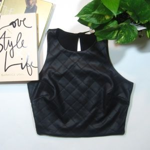Soprano Faux Leather Crop Top